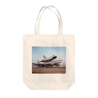 スペースシャトル&ボーイング747改 Tote bags