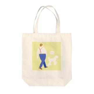 おさんぽさん Tote bags