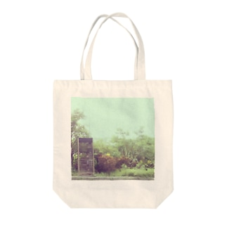 green. Tote bags