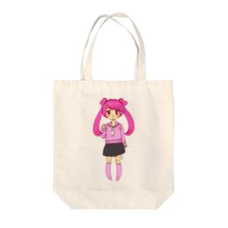 ピンクJK Tote bags