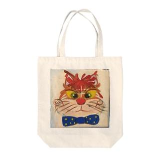 ネコとリボン Tote bags