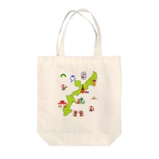 沖縄本島マップ Tote bags