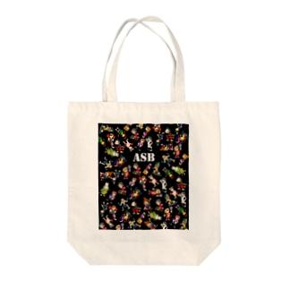 ASBスタッフキャラクターアイテム(黒) Tote bags
