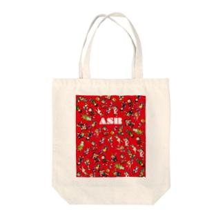 ASBスタッフキャラクターアイテム(赤) Tote bags