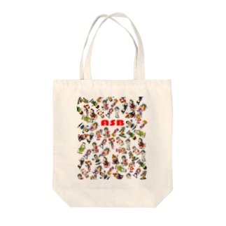 ASBスタッフキャラクターアイテム(白) Tote bags