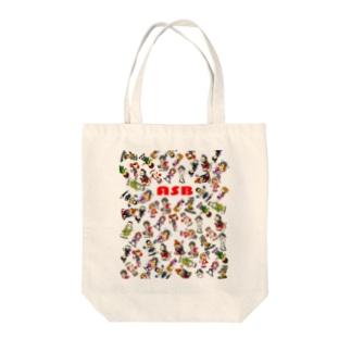 ASBスタッフキャラクターアイテム(白) Tote bags