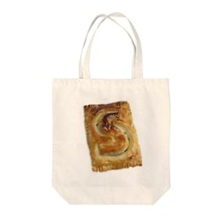 S型のパンプキンパイ Tote bags