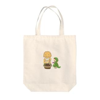 腹ペコサウルス Tote bags