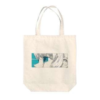 青と熱 Tote bags