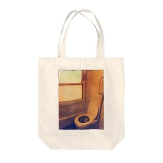 ポーランドの列車トイレ(懐かしの想い出ver.) Tote bags