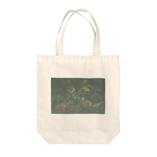 エモい花Tシャツ Tote bags