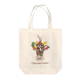 チョコレートパフェ Tote bags