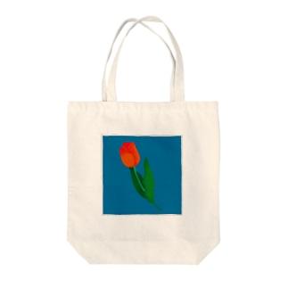 1本のチューリップ Tote bags