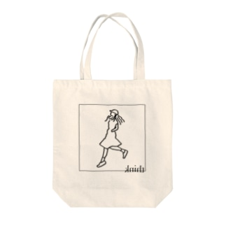 think(ライン+文字) Tote bags