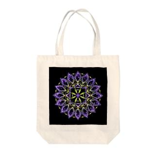 矢車−点描曼荼羅 Tote bags