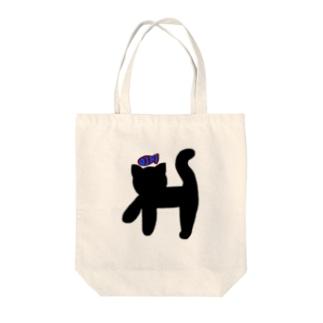 クロネコ×サカナ Tote bags