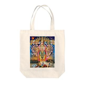 Hindu-vishnu Tote bags