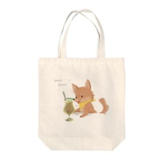 cafe series - anzu Tote bags