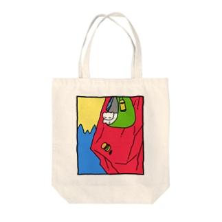 マウンテンバーガー Tote bags