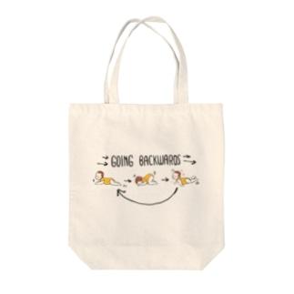ぷにぷに♡赤ちゃん しゃくとりむしの後退 Tote bags