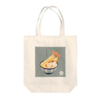 ねこまんま(えび) Tote bags
