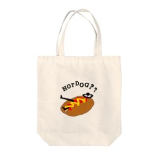 HOTDOG??(汚いversion) Tote bags