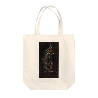 Akieem  ZawadiのSurfing  on the Milky Way Tote bags