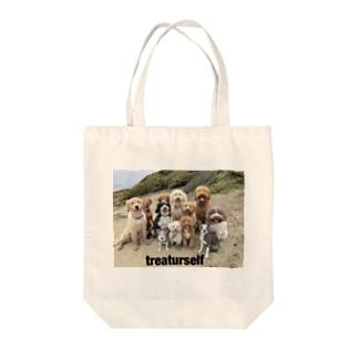 イヌを愛せよ Tote bags