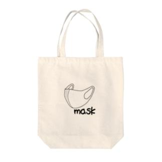 封じ込めマスク Tote bags