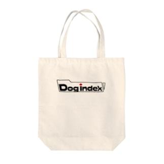 Dog indexのインデックスロゴ Tote bags