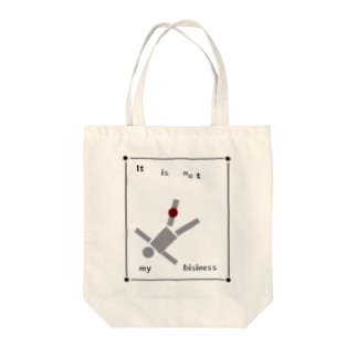 itisnotmybisiness Tote bags