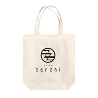 蒲生茶廊zenzaiロゴ Tote bags