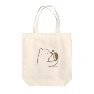 しろくま&ハリネズミ Tote bags