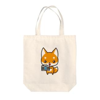 コンちゃん Tote bags