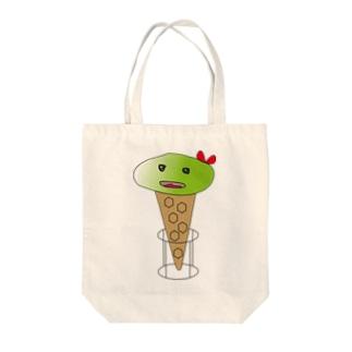 アイスクリームガール 抹茶 Tote bags