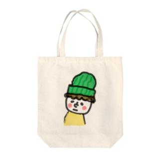 顔の白い小さき人 Tote bags