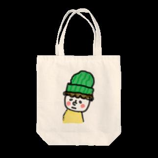 maniiiiの顔の白い小さき人 Tote bags