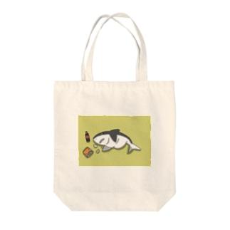 ダイエット失敗サメ Tote bags