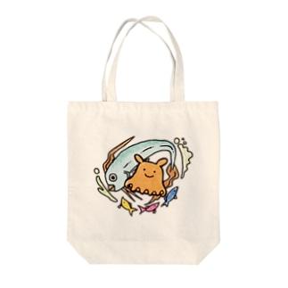 メンダコ&リュウグウノツカイ Tote bags