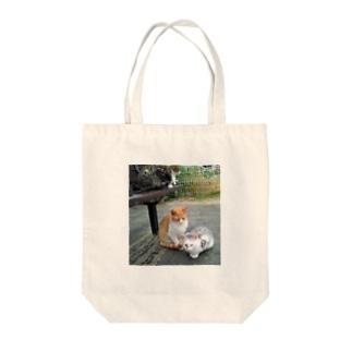 トロワ イラスト&写真館のにゃんズ Tote bags