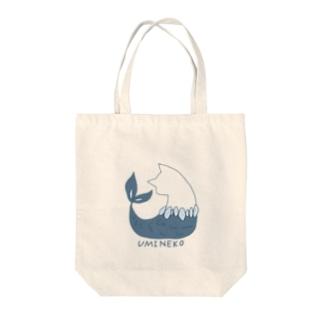 ウミネコ(線あり) Tote bags
