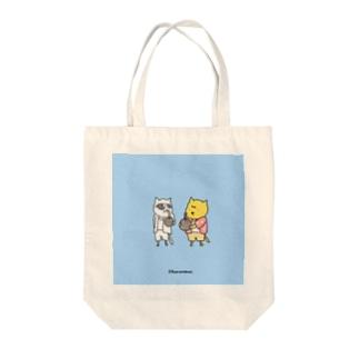 つむねこ&ココナッツジュース Tote bags