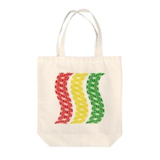 ユラユラスタ Tote bags