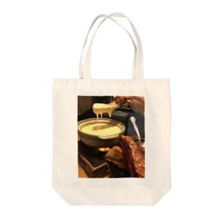 チーズ温泉 Tote bags