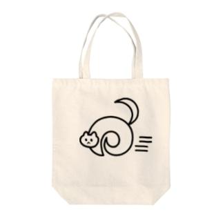 走る猫 トートバッグ