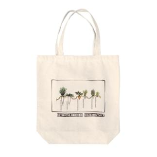 冬のはたけ Tote bags
