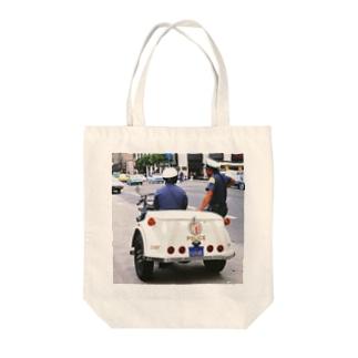 アメリカ:ロサンゼルス市警のパトロール U.S.A.: Policemen of Los Angels Tote bags
