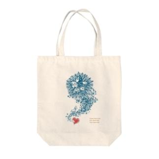 インドリヤちゃんとハート Tote bags