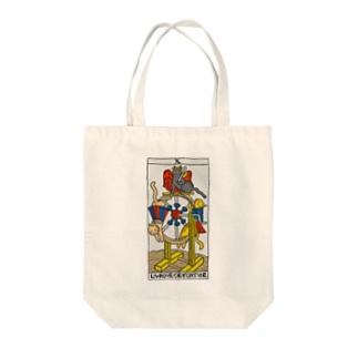 ネコタロット(運命の輪) Tote bags