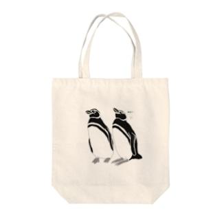 仲良しペンギン Tote bags